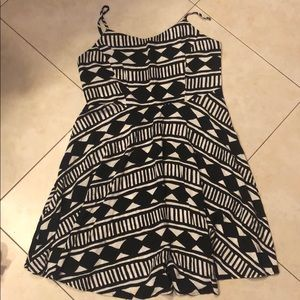 Summer dress with tribal print